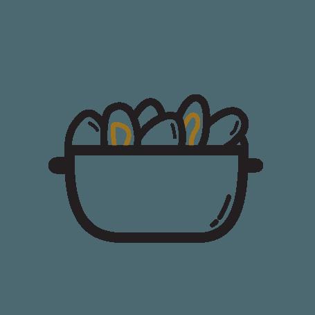 Moules de bouchot