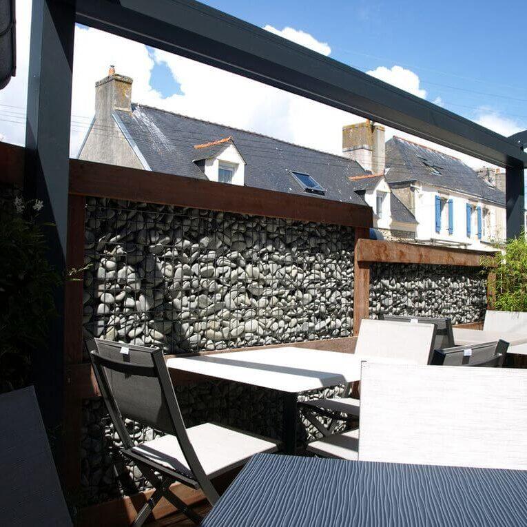 Terrasse du restaurant Ar Vag crêperie